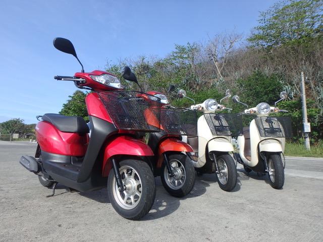 レンタルバイク:ダイブリゾート母島